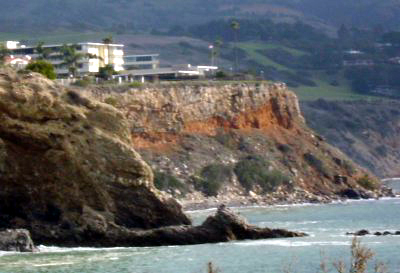 Land slide in Palos Verdes.