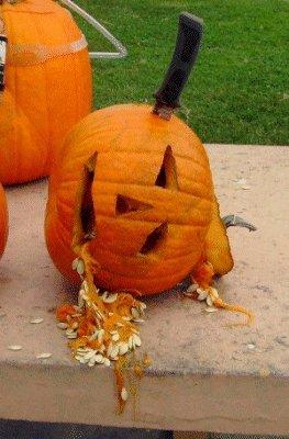 My underwater pumpkin carving entry.