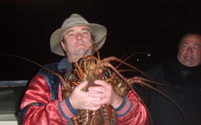 Macho me with me lobsters.
