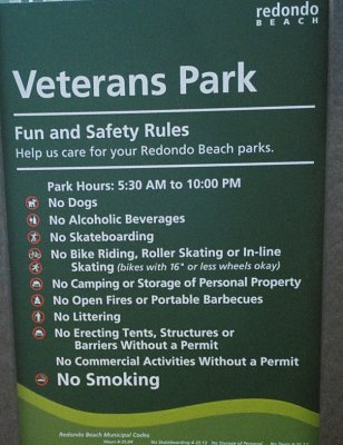 Stupid Redondo Park Rules