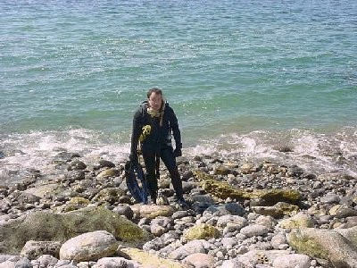 Psycho Solo Diver Emerges From The Ocean