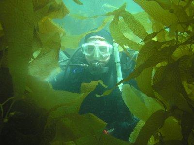 Me in the kelp.