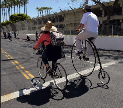 Penny Farthing At The Grand Prix In Long Beach