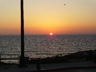 The sun sets over Redondo Beach.