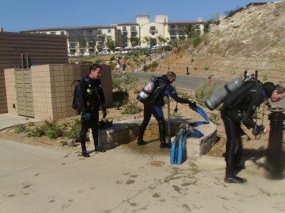 Washing off at Terranea Resort.