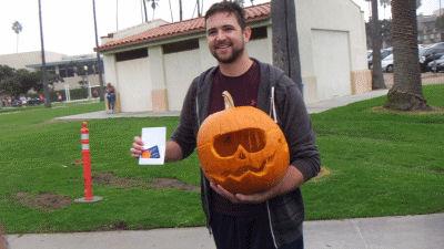 Pumpkin carving winner