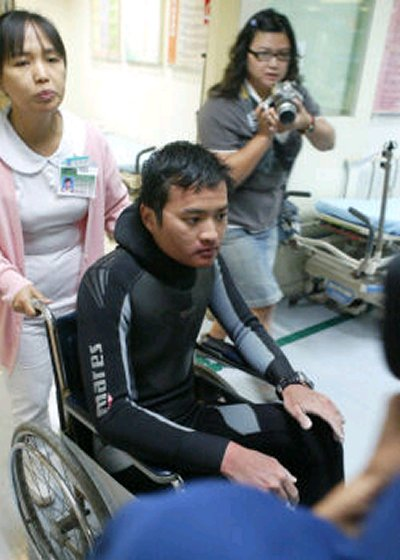 Rescued Taiwanese Diver