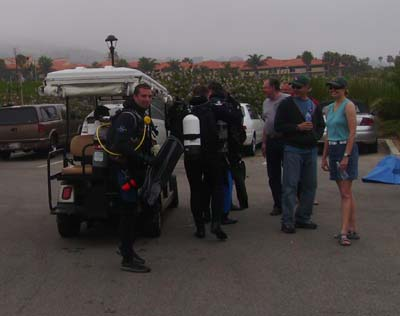 A ride from the Terranea staff