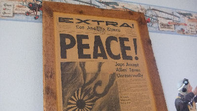 PEACE! Japs surrender!