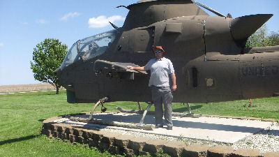 Me with an Apache helicopter