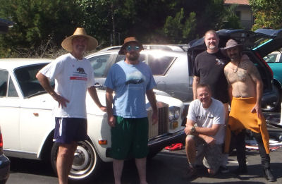 The crew - Rob, Me, Joe (kneeling), Ben and Randy.