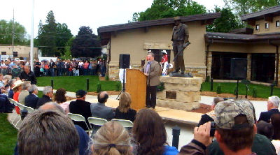 MC at John Wayne Museum ribbon cutting.