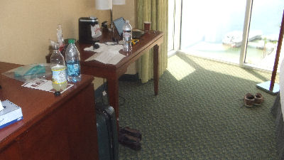 No chairs in hotel