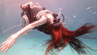 Underwater vehicle SCUBA wheelchair