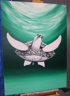 Wyland Turtle painting.